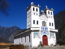 Free Cathedral In Southwest China Royalty Free Stock Images - 4473209