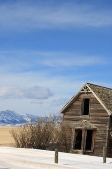 Spooky Abandoned Farmhouse Royalty Free Stock Photo