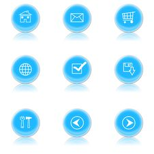 Free Icons For A Web Royalty Free Stock Photography - 4474067