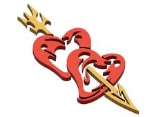 Free Hearts And Arrow Stock Photo - 4474570