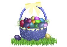 Free Easter Basket Bright 2 Stock Image - 4474571