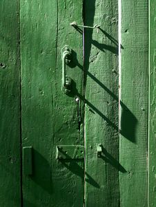 Free Green Door Royalty Free Stock Photography - 4474637