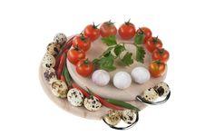 Vegetables Food On Wood Isolated Stock Image