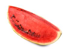 Free Slice Of Watermelon On White Background Royalty Free Stock Photos - 4474758