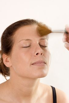 Free Woman Treated By A Beautician Stock Photo - 4475070