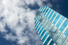 Free Blue Glass Skyscraper Stock Photography - 4475462