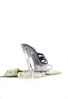 Money & Boots Royalty Free Stock Images
