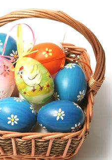 Free Easter Basket Royalty Free Stock Photography - 4476157