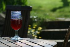 Free A Glass Of Wine On A Summers Day Stock Photo - 4476420
