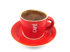 Free Red Coffee Cup Stock Photo - 4476970