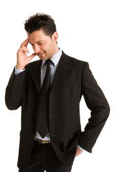Free Businessman Thinking Royalty Free Stock Photography - 4477037