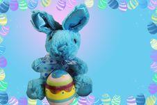 Free Blue Bunny Royalty Free Stock Photos - 4477078