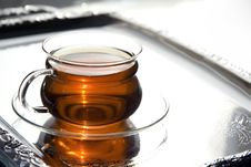 Free Transparent Cup Of Tea On The Salver Royalty Free Stock Photography - 4477737