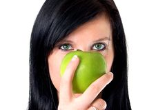 Free A Girl With Apple Royalty Free Stock Photography - 4477817