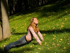 Free Pretty Girl On The Grass Royalty Free Stock Photo - 4478715