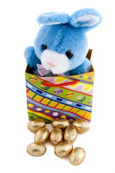 Free Blue Easter Bunny Royalty Free Stock Photography - 4478967