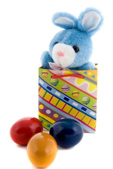 Free Blue Easter Bunny Royalty Free Stock Images - 4478979