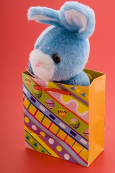 Free Blue Easter Bunny Royalty Free Stock Photography - 4478987