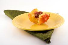 Free Half Eaten Nectarine. Stock Photos - 4479173