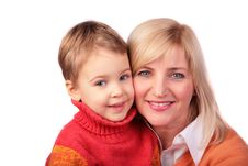 Middleaged Woman With Kid 2 Royalty Free Stock Image
