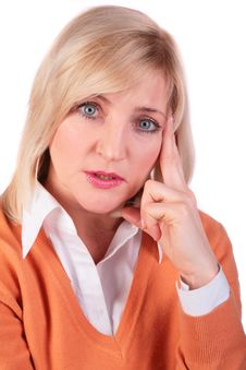 Middleaged Woman Face Close-up 3 Stock Photos