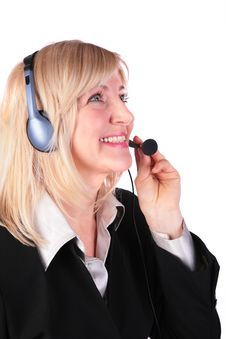 Free Middleaged Woman With Headset Stock Photos - 4479763