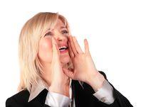 Free Middleaged Woman Screams Stock Photo - 4479880