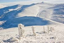Free Ice Path On The Top Of The Mount In Winter Resort Stock Image - 4479921