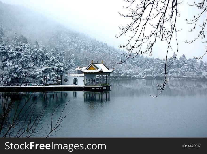 Summerhouse on the lakeside