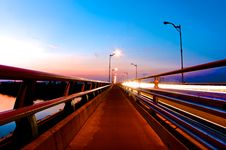 Free Bridge At Sunset Royalty Free Stock Photo - 44755945