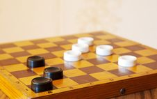 Free Black And White Checkers On A Chess Board Stock Photography - 44791792