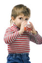 Free Little Boy Drinks Royalty Free Stock Photo - 4488365