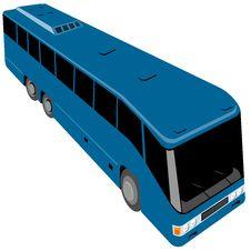 Free Blue Tourist Bus Royalty Free Stock Photo - 4480075