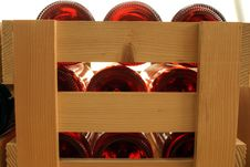 Free Wine Bottles In Boxes Stock Photos - 4480593