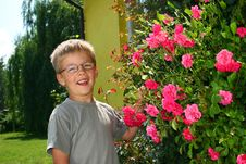 Free Boy With Roses Stock Images - 4481234