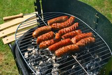 Free Sausages On A Barbecue Stock Photography - 4481372