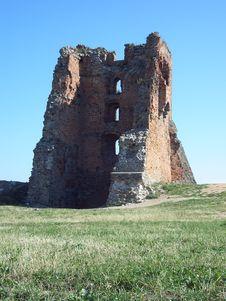 Free Royal Castle Ruins In Novogrudok In Belarus Stock Photography - 4481422