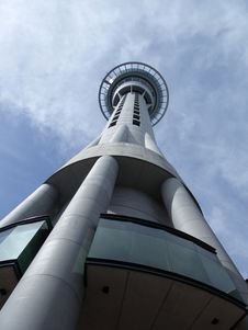 Auckland Tower, In Perspective Royalty Free Stock Images