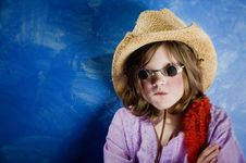 Free Mad Girl In A Hat And Glasses Stock Photo - 4482920