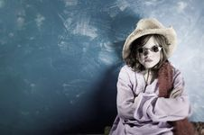 Free Mad Girl In A Hat And Glasses Royalty Free Stock Images - 4482939