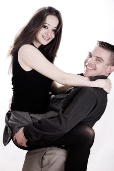 Free Young Smiling Couple Royalty Free Stock Photography - 4483547
