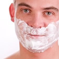 Free Shaving Young Man Royalty Free Stock Photos - 4483638