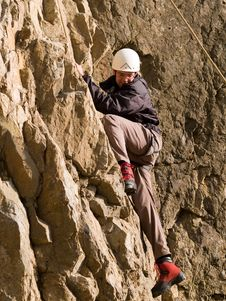 Free Climber Swarming Up Royalty Free Stock Images - 4483999