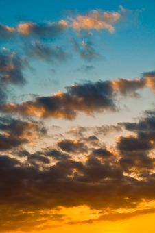 Free Beautiful Skyscape At Sunset Stock Photography - 4484242
