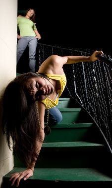 Free Pushed Down The Stairs - People Series Royalty Free Stock Image - 4484766