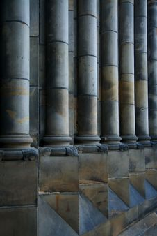 Classical Pillars In Perspective Royalty Free Stock Photos