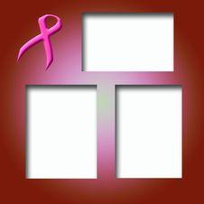 Free Pink Ribbon Scrapbook Stock Image - 4486811