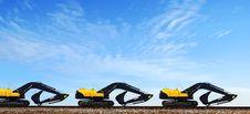 Free Power-shovels On Rails. Stock Image - 4486901