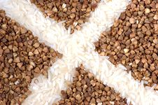 Buckwheat With Rice Stock Photo