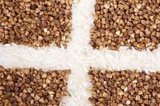 Buckwheat With Rice Royalty Free Stock Photo